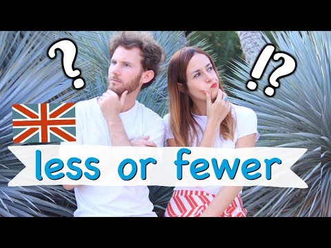 ¿Sabes cuándo usar 'LESS' o 'FEWER' en inglés?