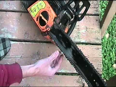 How To Tighten Chain On Poulan Pro Chainsaw.