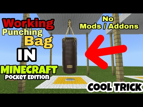 Minecraft PE: How To Make A Punching Bag - Cool Minecraft Pocket Edition Trick