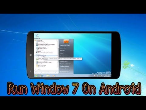 Run Windows 7 on any Android Phone (without Root) [Hindi]