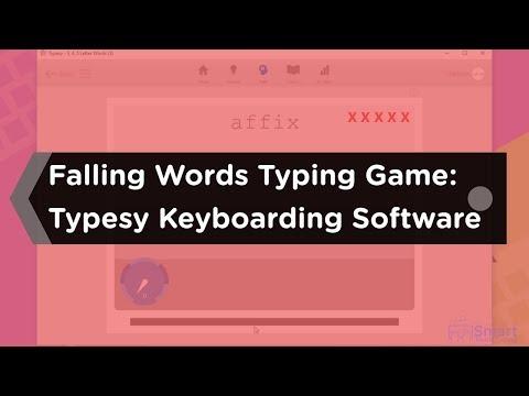Falling Words Typing Game: Typesy Keyboarding Software