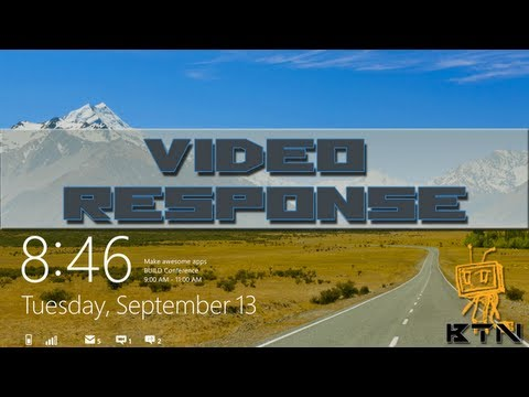 Video Response: Disable Windows 8 Lock Screen via Registry Hack