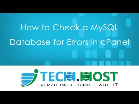 How to Check a MySQL Database for Errors in cPanel
