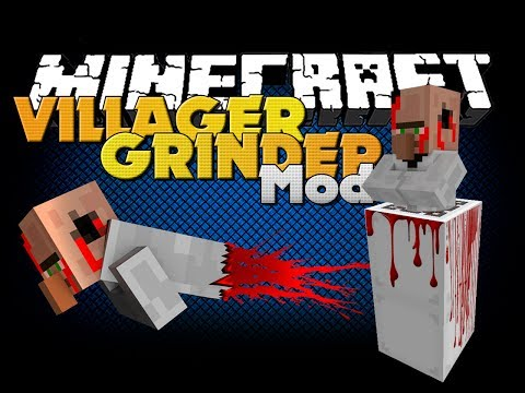 Minecraft Mod - VILLAGER GRINDER MOD - NEW ITEMS AND DEATH