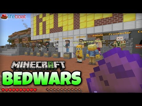 Minecraft - BEDWARS ! Server [@Lifeboat] Xbox One / MCPE / Windows 10 / Switch