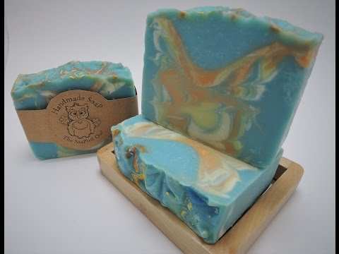 Making & Cutting of Shabby Chic Cold Process Soap | The Soaping Owl