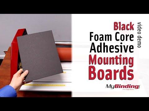 Black Foam Core Adhesive Mounting Boards