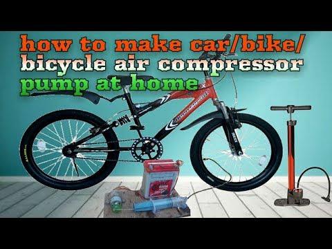 how to make car/bike/bicycle air compressor pump at home