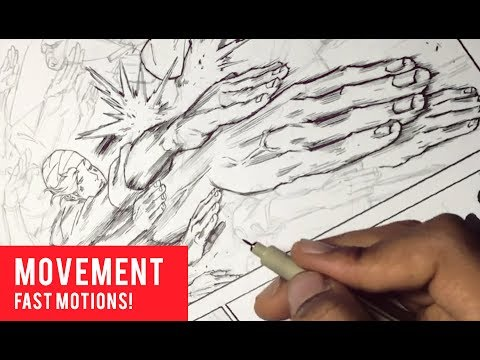 How To Draw Manga: Fast Hand Action Motion