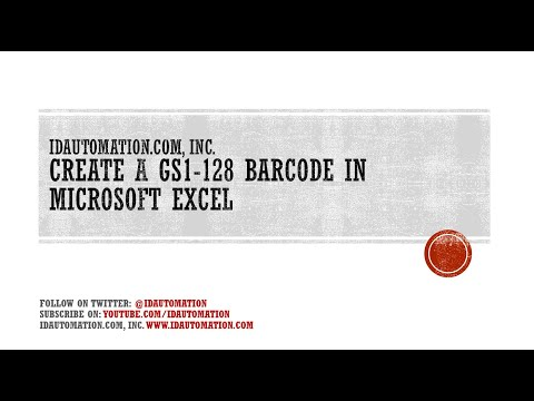 Create a GS1-128 Barcode In Microsoft Excel using Code 128 Fonts