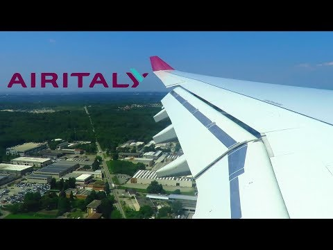 AIR ITALY Airbus A330-200 WINDY ONBOARD Landing at Milan Malpensa Airport (MXP) | Seat 25A