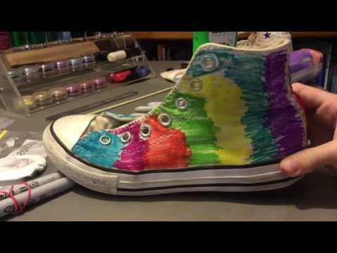 DIY Converse with SHARPIES!?!