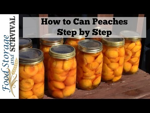 How to Can Peaches: Step by Step