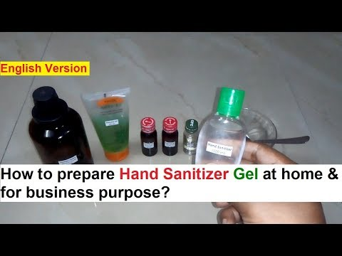 Hand Sanitizer Gel Making 100% Real Formula