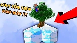 Noob ThỬ ThÁch 1 NgÀy Sinh TỒn TrÊn ĐẢo MÂy Trong Minecraft (huy Noob Minecraft)