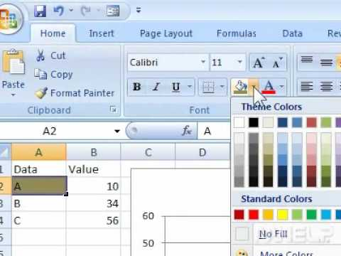 How to remove shading from a cell in Excel