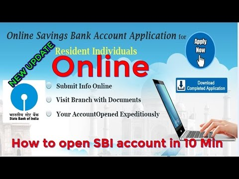 SBI online account opening in 10 minute