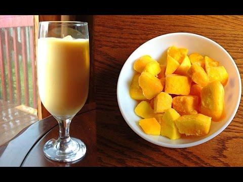 Mango Milkshake Recipe With 3 Ingredients - How To Make Mango Milkshake by (HUMA IN THE KITCHEN)