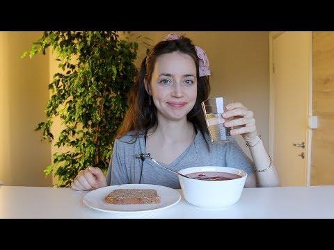 ASMR Eating Sounds Tomato Soup & Sourdough Bread