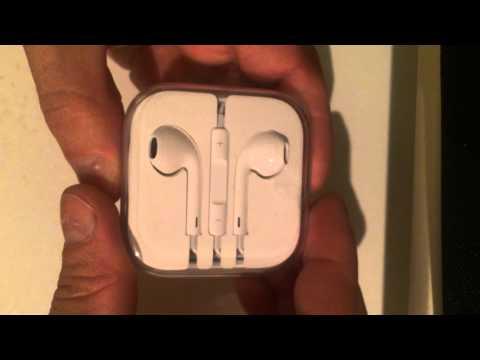 Unpack 100% Genuine EarPods iPhone 5, 5S, 6, 6S