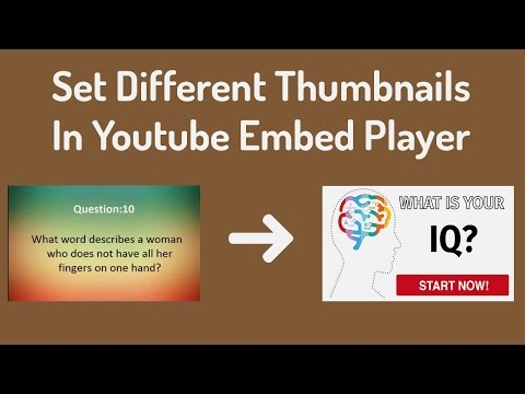 Custom Thumbnail Image in Youtube Embed Player