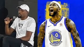 Kevin Durant On DeMarcus Cousins Joining The Warriors