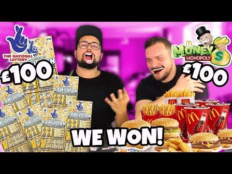 £100 McDonalds Monopoly Stickers VS £100 Scratch Cards! - *WE WON*