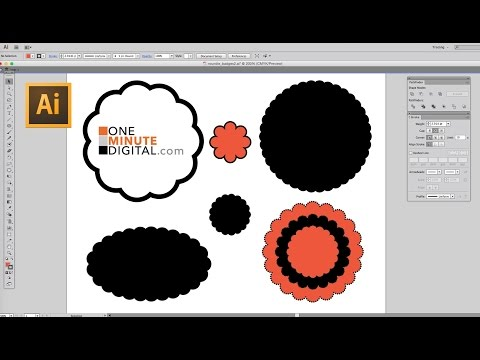 Make a Round Scalloped Edge Circle in Illustrator