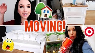 Moving Vlog #1! Big News, Target Trip, New Couch, Painting Furniture
