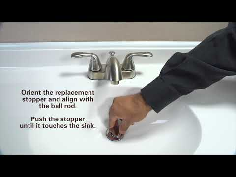 How to Replace a Pop-Up Stopper