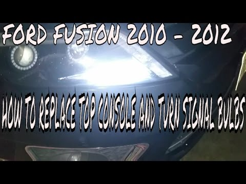Ford Fusion: how to replace top console and signal lights