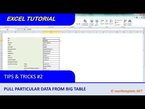 How to Extract Data for Particular Employee from Big Employee Database Table