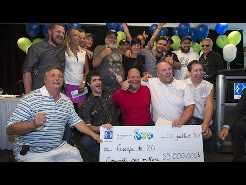Group of 20 Quebecers on their $55-million lottery jackpot win