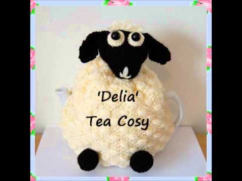 Delia Sheep Lamb Kitchen Farmyard Country DK Yarn Tea Pot Cosy Knitting Pattern