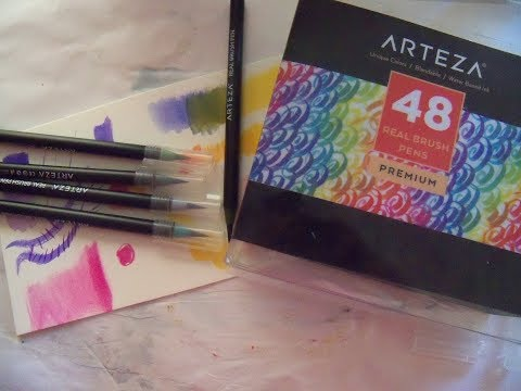 Arteza Real Brush Pens product review