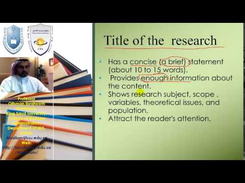 2- how to write title of your research