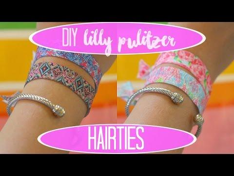 DIY LILLY PULITZER HAIR TIES