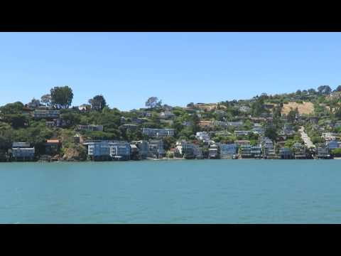 View of Tiburon from the Angel Island-San Francisco ferry