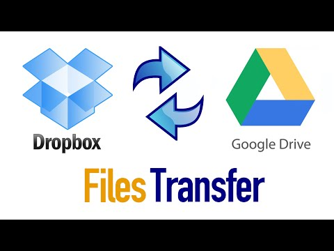 How to Transfer Files From Dropbox To Google Drive and Vice Versa?