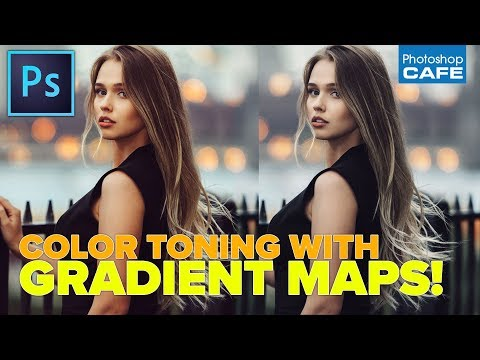How to Color tone using Gradient Maps, Instant color grade in Photoshop
