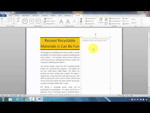 How to Insert a Newsletter Magazine Stacks Sidebar in Microsoft Word to Highlight Information