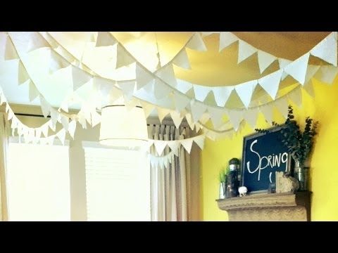 how to make flags / banners DIY party decoration