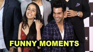 Shraddha Kapoor And Rajkummar Rao Funny Moments At Stree Trailer Launch