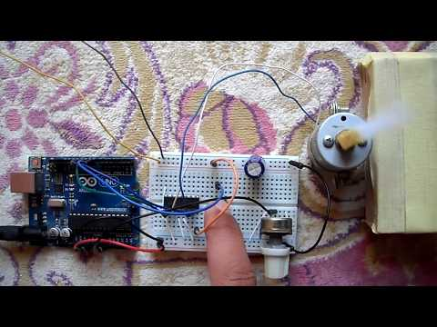 Arduino DC motor speed and direction control with L293D