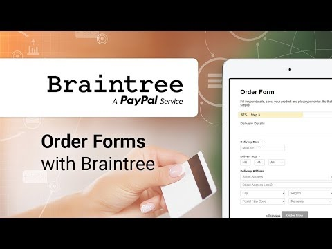 Creating an Order Form with Braintree integration
