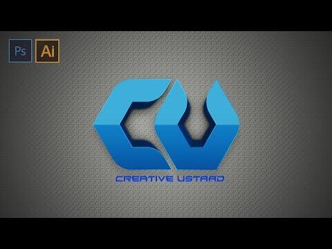 Photoshop and Illustrator   Tutorial 3d Logo Design   ( Creative Ustaad )