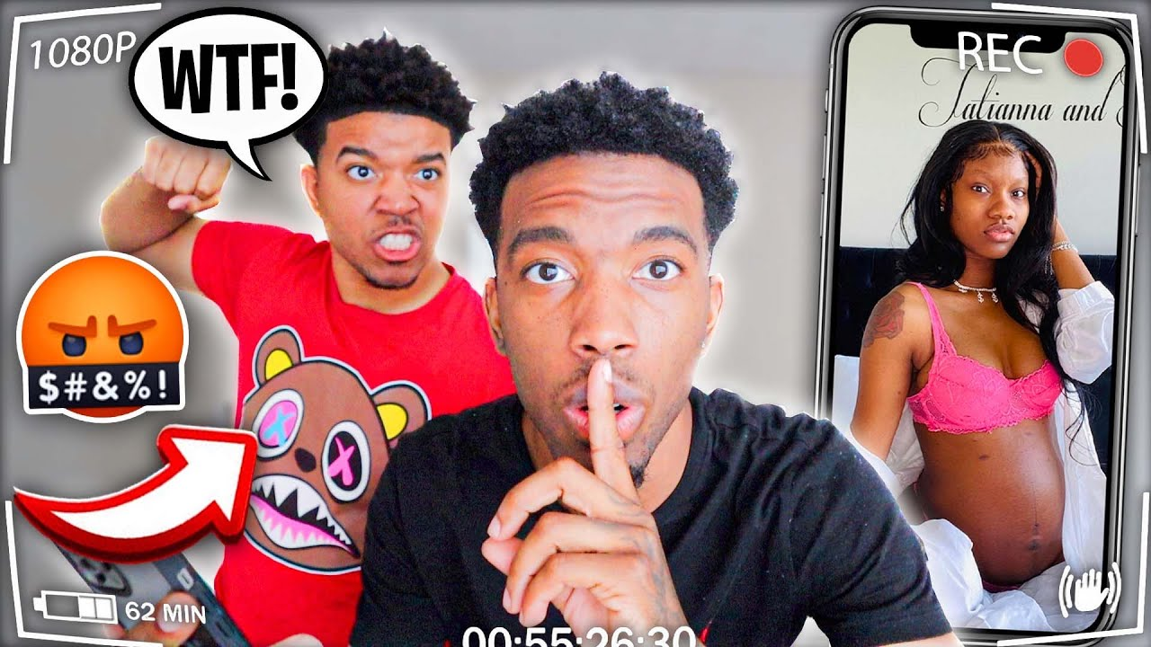 PUTTING MY BROTHERS PREGNANT GIRLFRIEND ON MY LOCK SCREEN! *BAD IDEA*