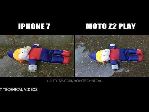 Moto Z2 Play vs iPhone 7 Camera Comparison in 4K
