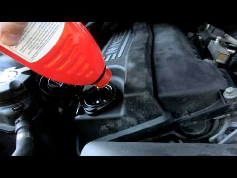 How to check (and fill) oil on E90 BMW. (Non iDrive).
