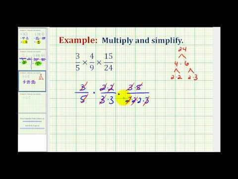 Ex:  Multiplying Three Fractions